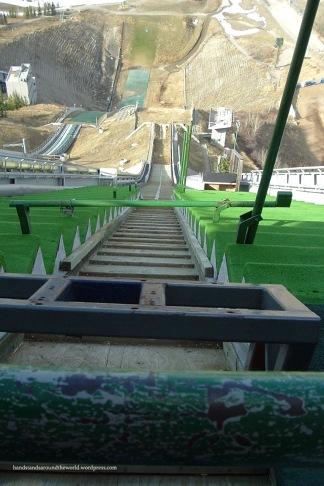 Ski jump at the Calgary Olympic Park