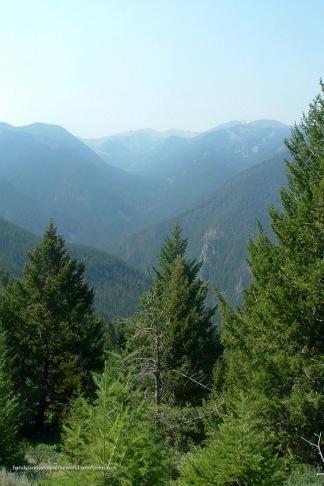 Gallatin Mountains from the summit of Garnet Mountain