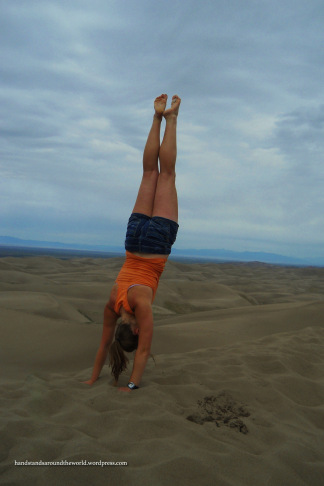 Handstand on top of High Dune