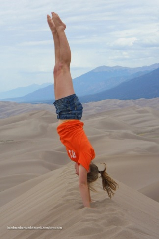 Handstand on top of Star Dune - Great Sand Dunes National Park & Preserve, CO
