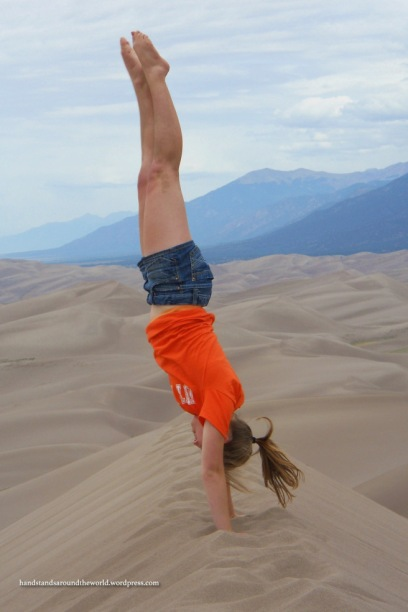 Handstand on top of Star Dune