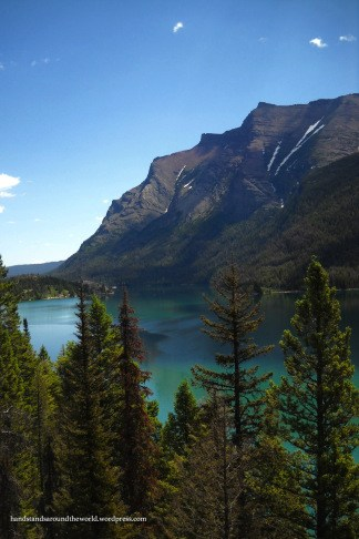 Saint Mary Lake from the waterfalls trail - Glacier National Park, MT