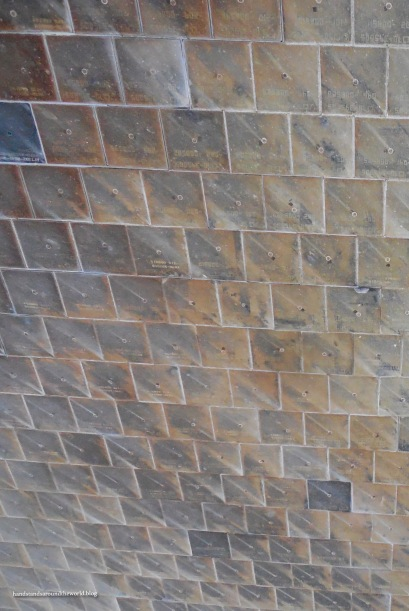 Heat-resistant tiles on the outside of Discovery