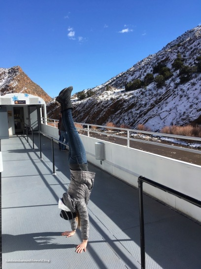 My first ever train handstand!