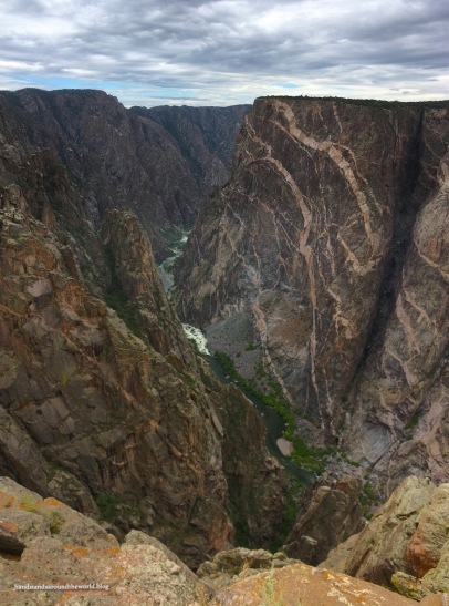 The canyon wall on the right is called the Painted Wall