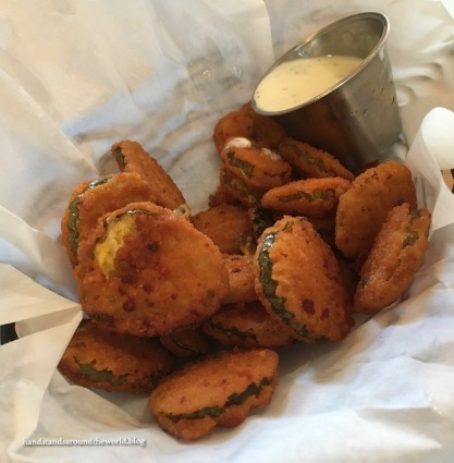 Fried pickles + ranch